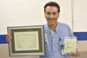 Bobby Rodriguez receives Patient Safety Hero Award (1)